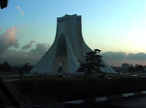 Ardalan first stop is his birthplace of Tehran, Azadi Square is as it was before.