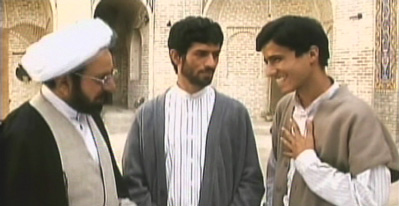 Upon arrival Reza meets the local seminary students.