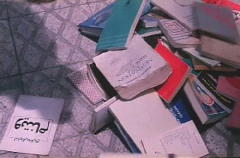 Fereshreh's hidden book stash.